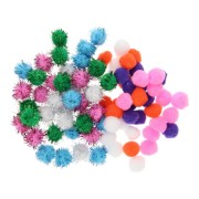 Mixed Pompoms, 80st.