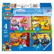 Paw Patrol Puzzel - Puppies op Pad, 4in1