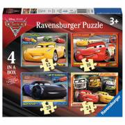 Disney Cars 3 Puzzel, 4in1