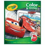 Crayola Kleur- en Stickerboek Cars 3