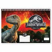 Jurrasic World Schetsboek A4 + Stencils & Stickers