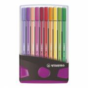 STABILO Pen 68 Colorparade Antraciet/Roze, 20st.