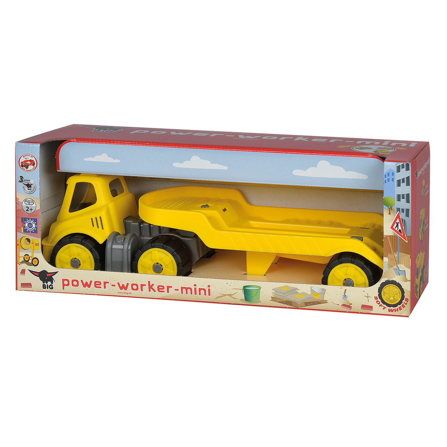 big power worker mini transporter thimble toys. Black Bedroom Furniture Sets. Home Design Ideas