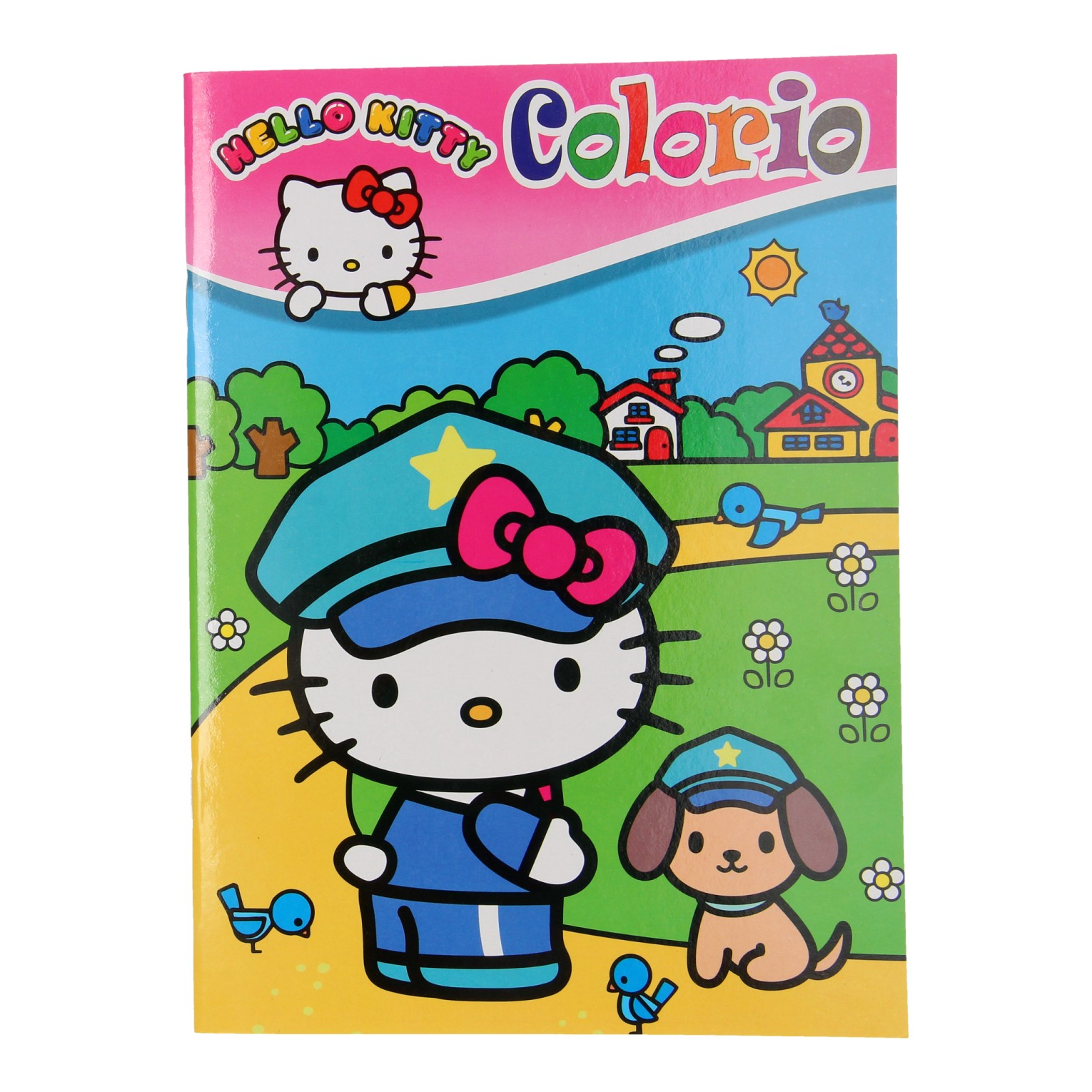 Kleurplaten Hello Kitty Princess.Hello Kitty Colorio Coloring Book Thimble Toys