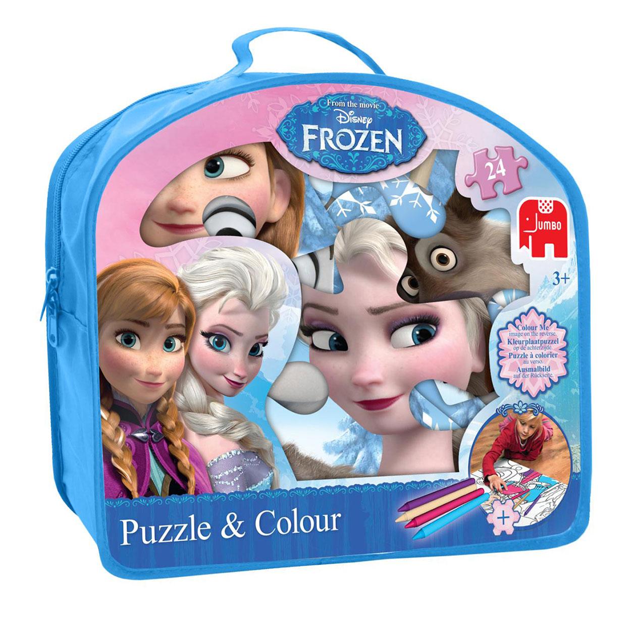 Disney Frozen Amp Puzzle Coloring Page Thimble Toys