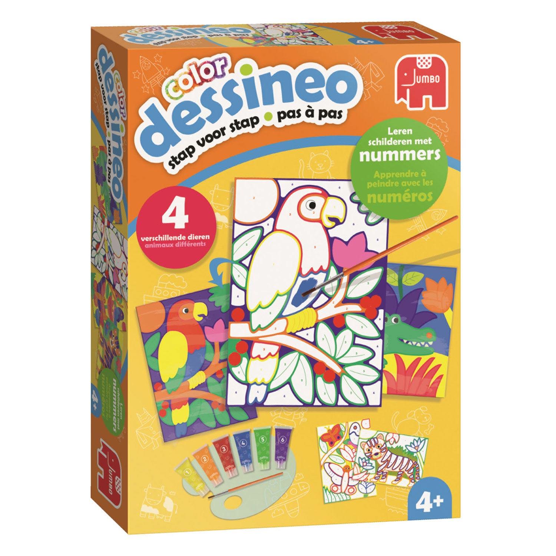 Dessineo Color Malen Nach Zahlen Dschungel Thimble Toys