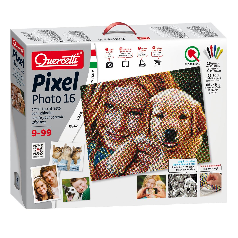 Quercetti Pixel Art Create Your Own Portrait Thimble Toys