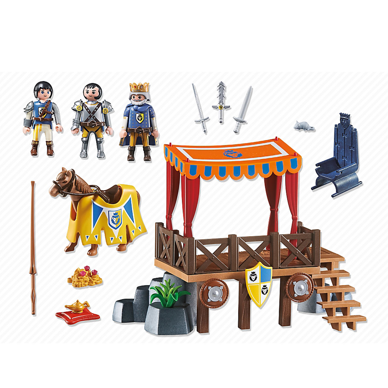 Playmobil 6695 Super 4 King stand with Alex | Thimble Toys