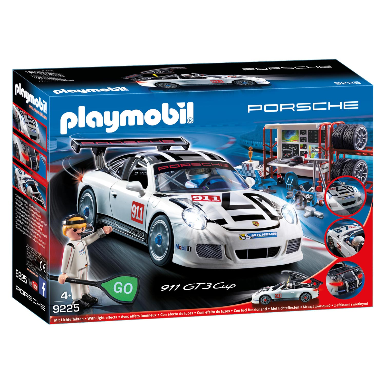 playmobil 9225 porsche 911 gt3 cup thimble toys. Black Bedroom Furniture Sets. Home Design Ideas