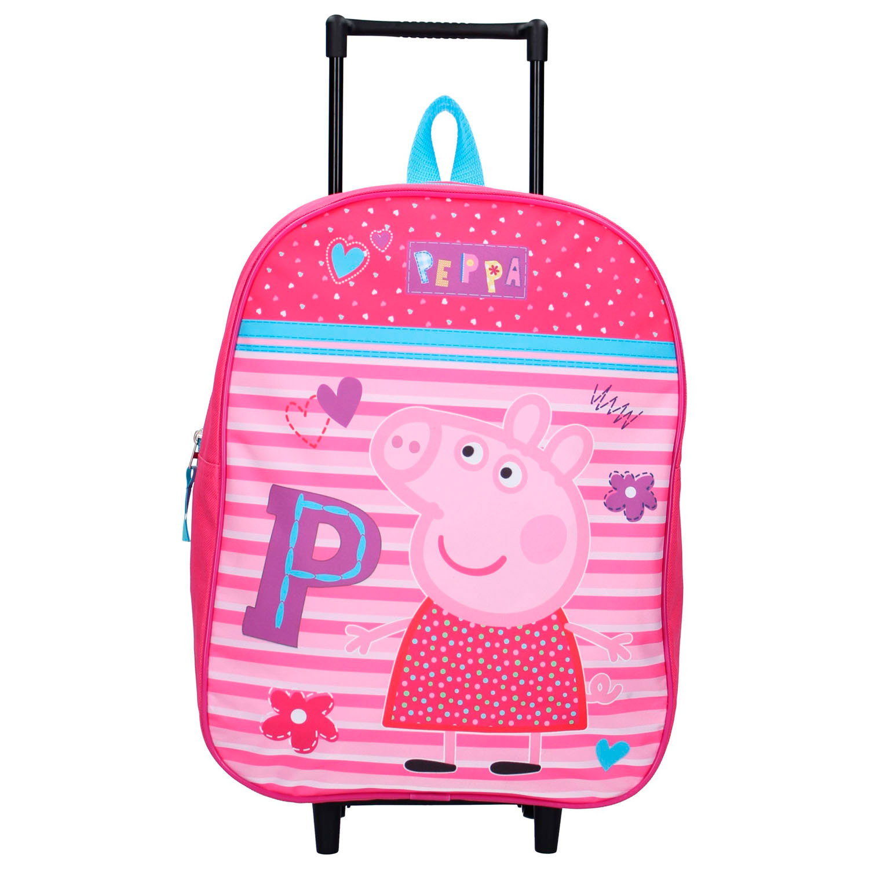 Peppa Pig Pig Kids Suitcase Trolley 39 cm New