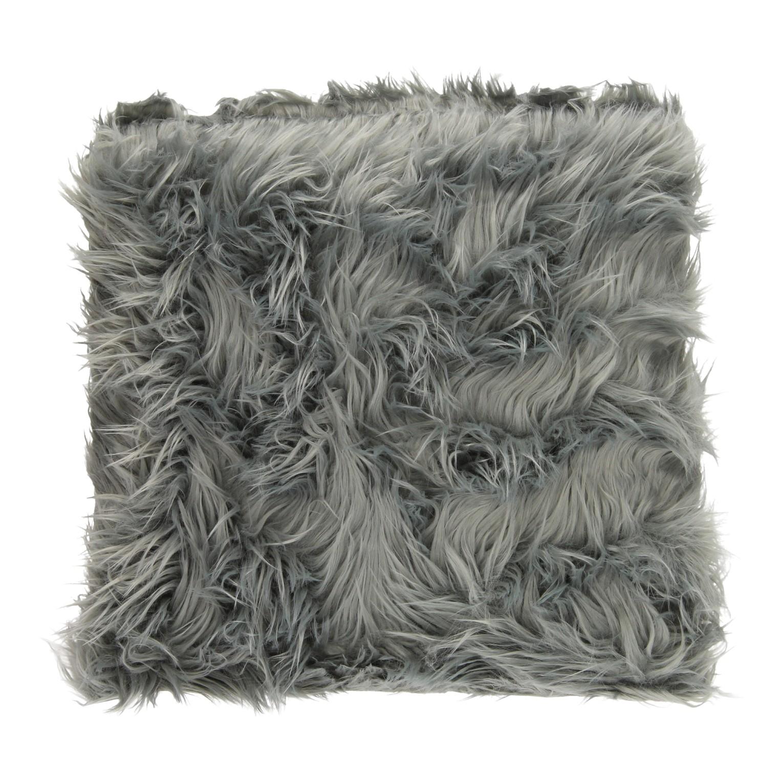Kussen bont grijs 40 cm thimble toys - Kussen bont grijs ...