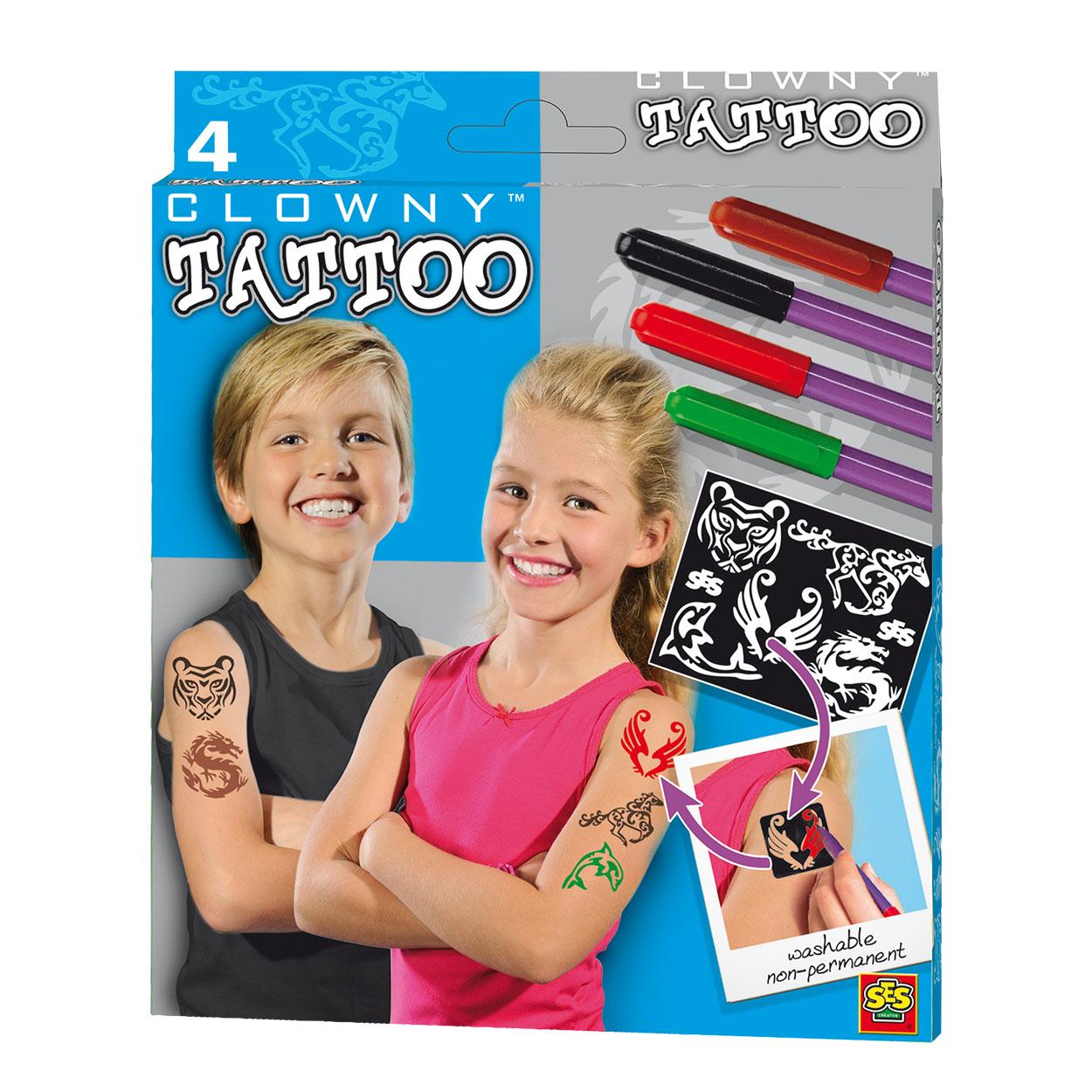Ses Clowny Tattoo Pens And Templates Thimble Toys